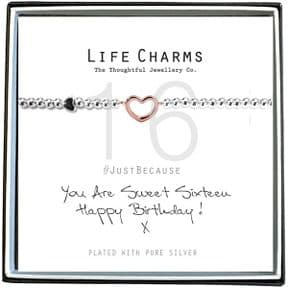 Life Charms Sweet 16 Rose Gold & Silver Plated Bracelet