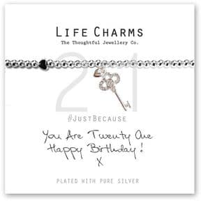 Life Charms You Are 21 Silver Plated Bracelet