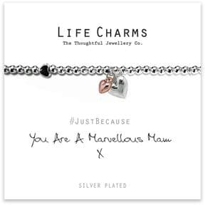 Life Charms You Are A Marvellous Mam Silver Plated Bracelet