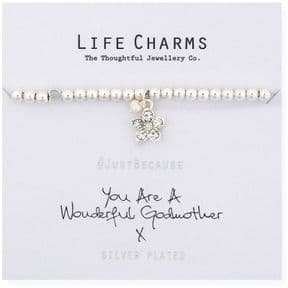 Life Charms You Are A Wonderful Godmother Silver Plated Bracelet