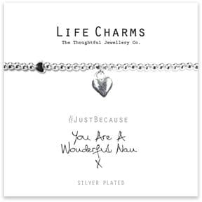 Life Charms You Are A Wonderful Nan Silver Plated Bracelet