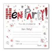 Luxury Hen Party Invitations - Pack of 10