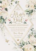 Luxury Mum & Dad Diamond 60th Wedding Anniversary Card