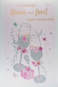 Mam & Dad Wedding Anniversary Card