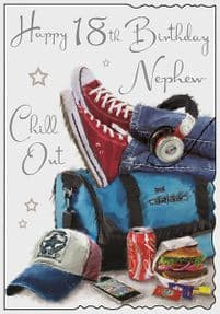 Nephew 18th Chill Out Birthday Card