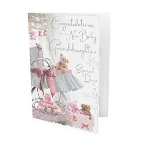 New Baby Granddaughter Congratulations Card