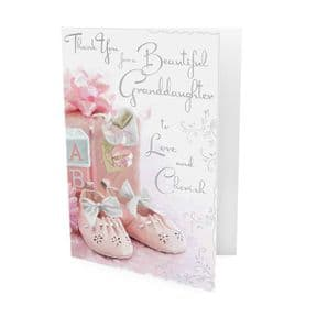 New Baby Granddaughter Thank You Card