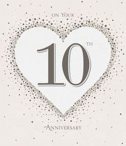 On Your 10th Anniversary Greeting Card