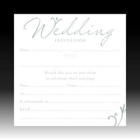 Pack of 10 Luxury White Foiled Wedding Invitations