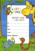 Pack of 20 - Jungle Party Invitations