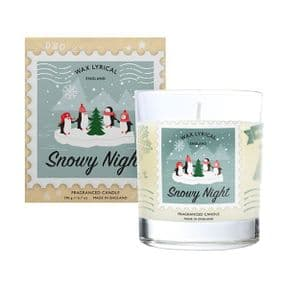 Snowy Night Glass Jar Candle in Gift Box