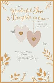 Son & Daughter-in-Law Wedding Anniversary Card