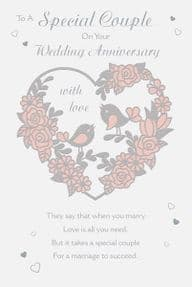 Special Couple Wedding Anniversary Card