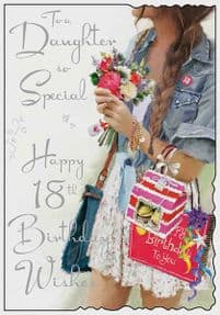 Special Daughter 18th Birthday Card