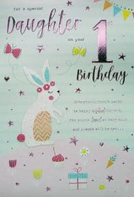 Special Daughter 1st Birthday Card
