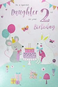 Special Daughter 2nd Birthday Card