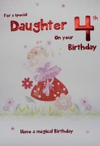 Special Daughter 4th Birthday Card