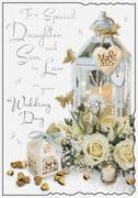 Special Daughter & Son in Law Wedding Day Greeting Card