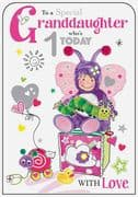 Special Granddaughter 1st Birthday Card