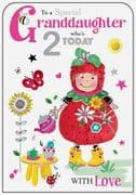 Special Granddaughter 2nd Birthday Card