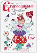 Special Granddaughter 3rd Birthday Card