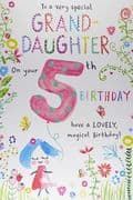 Special Granddaughter 5th Birthday Card
