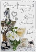 Special Husband Silver Wedding Anniversary Card