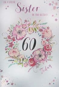 Special Sister 60th Birthday Card