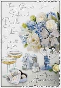 Special Sister & Brother in Law Wedding Anniversary Card
