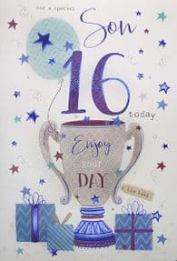 Special Son 16th Birthday Card