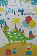 Special Son 4th Birthday Card