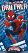 Spiderman Brother Birthday Card with Badge