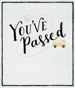 Toot Toot Congratulations Passed Driving Test Card