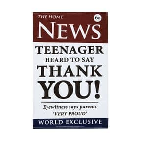 Ulster Weavers Teenager Hard to Say Thank You News Linen Tea Towel