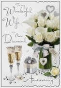 Wife Diamond Wedding Anniversary Card