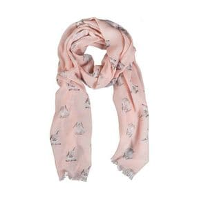 Wrendale Bunny Scarf (Pink)