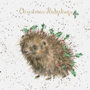 Wrendale Christmas Hedgehugs Box of 8 Christmas Cards