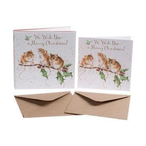 Wrendale Christmas Mice Box of 8 Christmas Cards