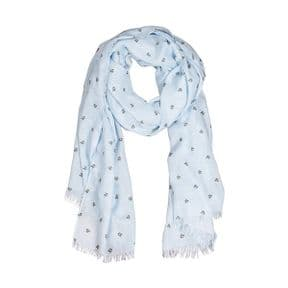 Wrendale Flight of The Bumblebee Scarf (Blue)