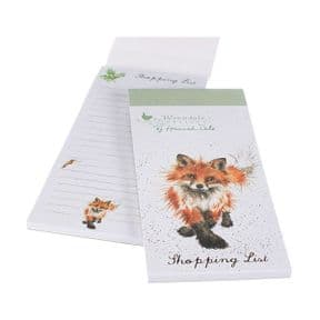 Wrendale Fox Magnetic Shopping Pad