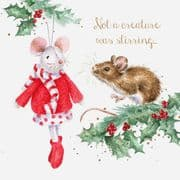 Wrendale Not A Creature Was Stirring Box of 8 Christmas Cards