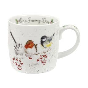 Wrendale One Snowy Day (Robin & Blue Tit) Mug