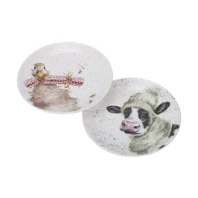 Wrendale Set of 2 Cow & Duck Coupe Plates