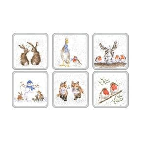Wrendale Set of 6 Christmas Coasters