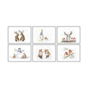 Wrendale Set of 6 Christmas Placemats