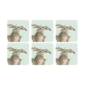 Wrendale Set of 6 Hare Coasters