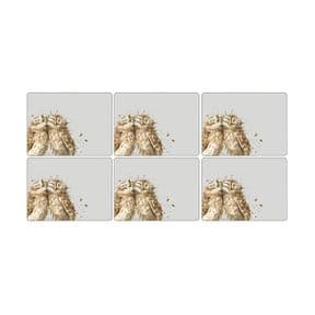 Wrendale Set of 6 Owl Placemats