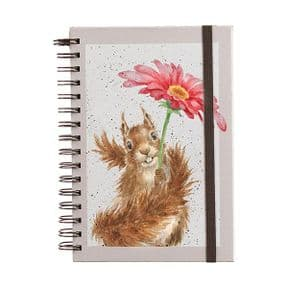 Wrendale Squirrel Sprial Bound A5 Notebook