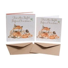 Wrendale 'Twas The Night Before Christmas' Fox Box of 8 Christmas Cards