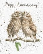 Wrendale Wedding Anniversary Owls Greeting Card